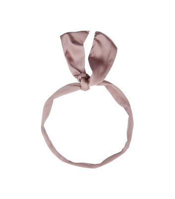 Lilac Sateen Neck Tie New Look