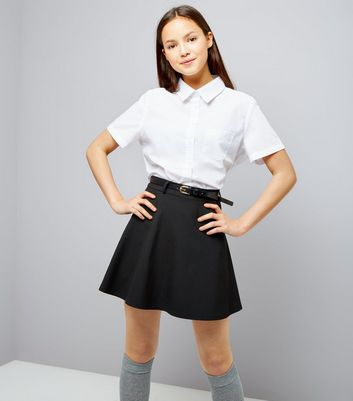 "Black Pleated Schoolgirl Mini Skirt Glenelg Urban CoCo Women's Elastic Waist Tartan Pleated School Skirt out of 5 stars SOLID BLACK PLEATED MINI SKIRT. TO ENSURE YOU ORDER THE CORRECT SIZE SKIRT: SMALL - Waistband measures 30"" around when fully closed. Skirt is 13"