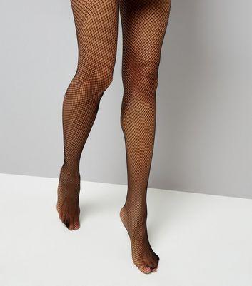 Black Fishnet Tights New Look