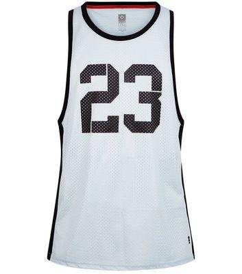 Black 23 Print Mesh Boxing Vest New Look