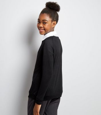 Teens Black Long Sleeve Jumper New Look