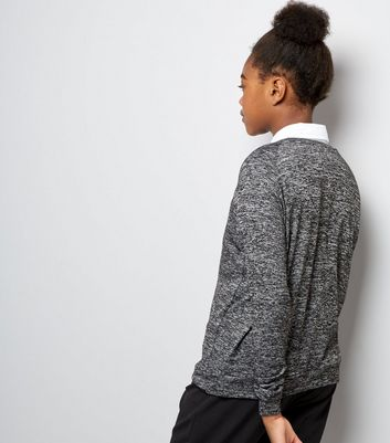 Teens Grey Long Sleeve Jumper New Look