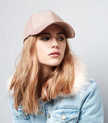Pink Metallic Cord Cap New Look
