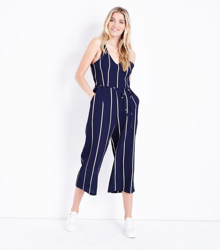 7686180978f ... AX Paris Navy Stripe V Neck Jumpsuit. ×. ×. ×. Shop the look