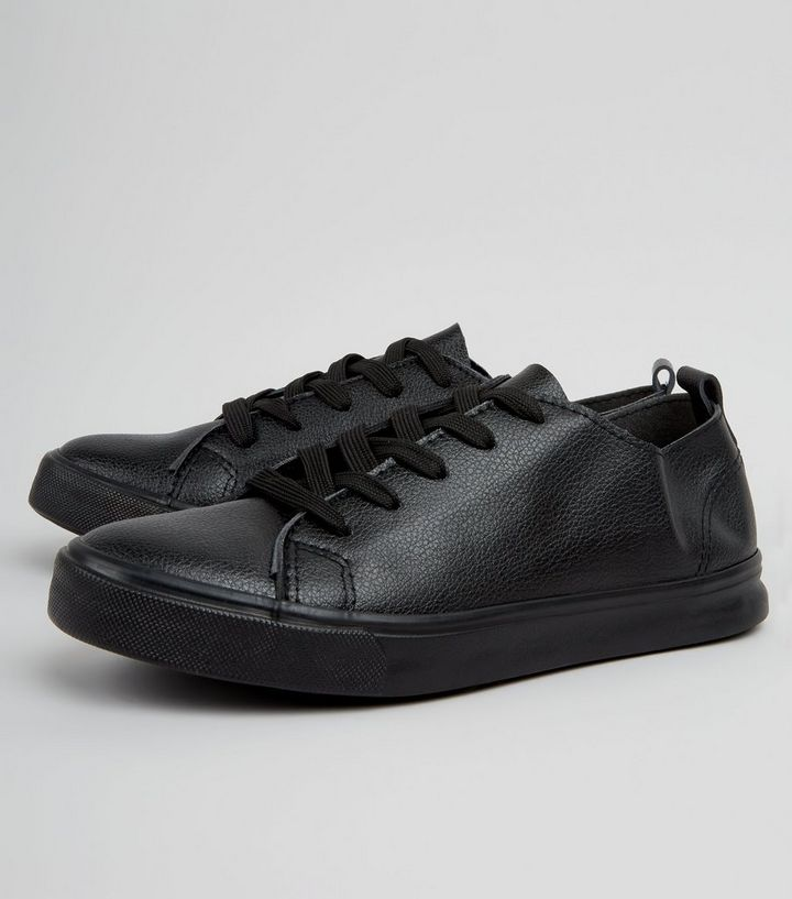 730b13e52e0 Black Lace Up Trainers
