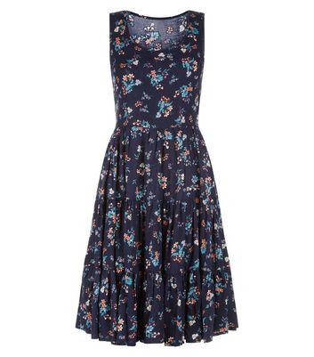 Blue Vanilla Navy Floral Print Dress New Look