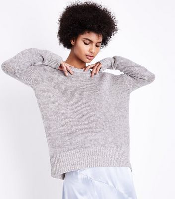 Tall Grey Longline Jumper New Look