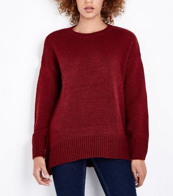 Tall – Weinroter, langer Pullover