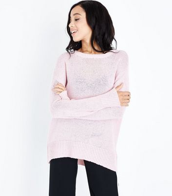 Tall - Pull longueur XL rose