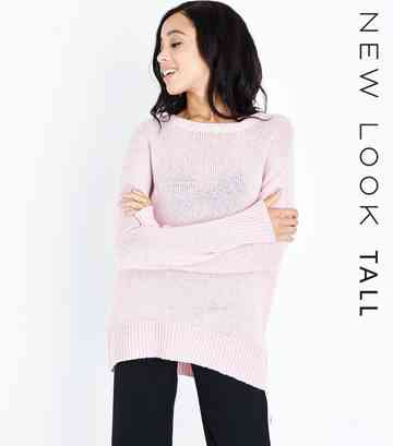 Tall Pink Longline Jumper