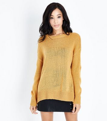 Tall - Pull longueur XL jaune moutarde