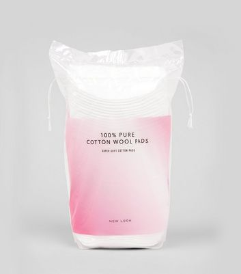 White 100% Pure Cotton Pads New Look
