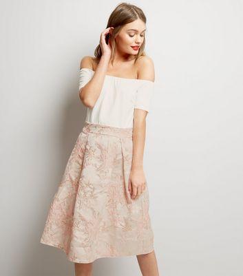 AX Paris White 2 in 1 Bardot Neck Dress New Look