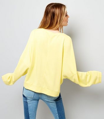 Yellow Batwing Sleeve Sweater New Look