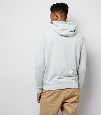 Grey Pocket Front Hoodie New Look