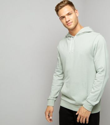 Mint Green Pocket Front Hoodie New Look