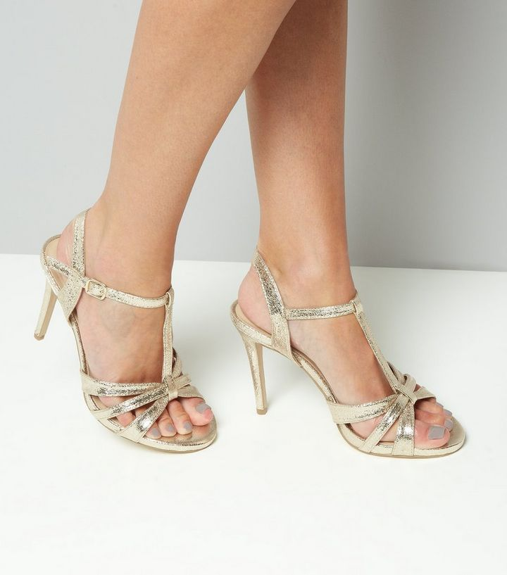 9be423e492b5 ... Wide Fit Gold Multi Strap T Bar Heeled Sandals. ×. ×. ×. VIDEO Shop the  look