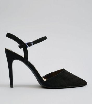 Black Suede Pointed Heels | New Look