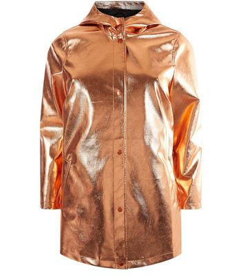 Curves Rose Gold Anorak New Look