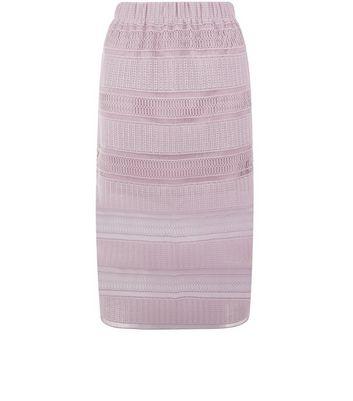 Lilac Crochet Lace Trim Midi Skirt New Look