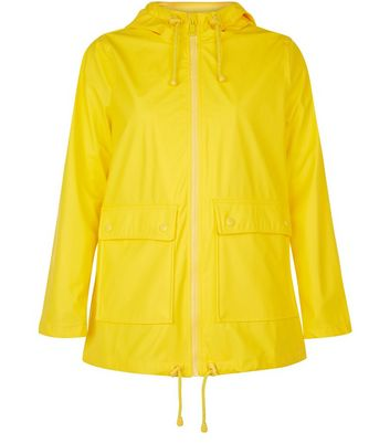 Petite Yellow Matte Anorak New Look