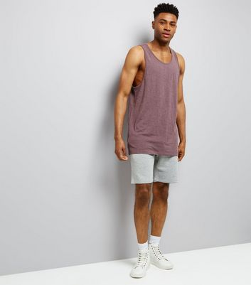 Purple Cotton Mix Vest New Look