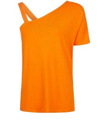 Orange Off the Shoulder Top New Look