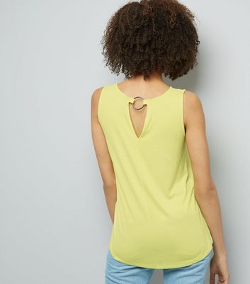 Green Ring Back Vest New Look