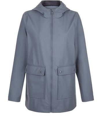 Teens Grey Matte Anorak New Look