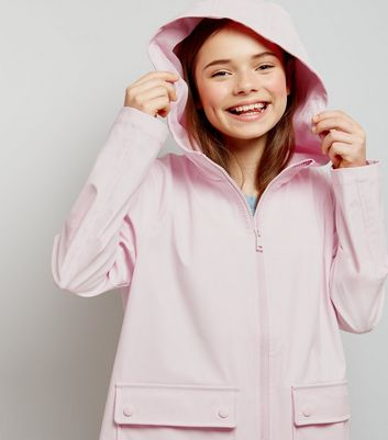 Teens Mid Pink Matte Anorak New Look