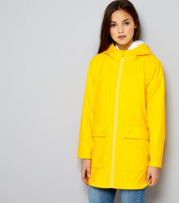 Teens Yellow Matte Anorak New Look