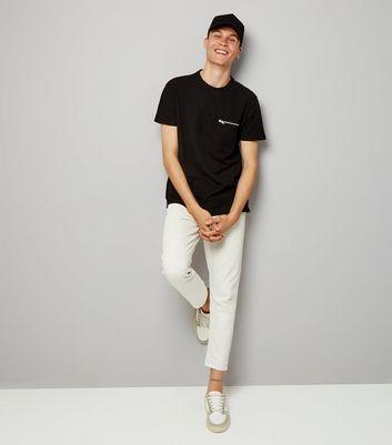 Black Zip Detail T-Shirt New Look