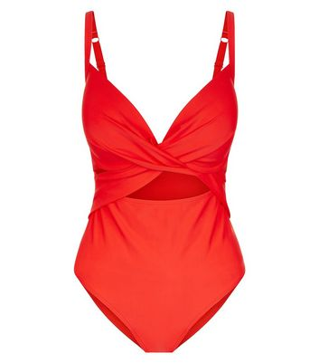 red-twist-front-fuller-bust-swimsuit