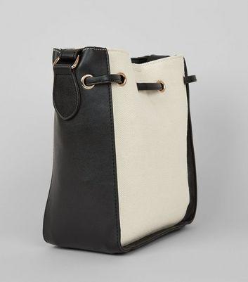Black Contrast Side Mini Bucket Bag New Look