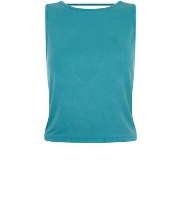 Blue Strappy Back Vest New Look