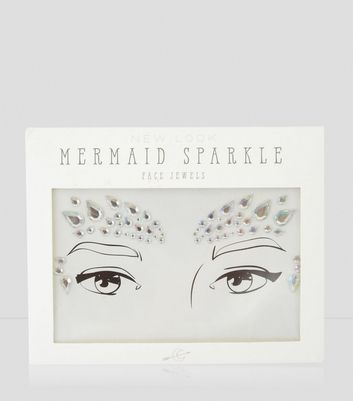 Silver Holographic Mermaid Face Jewels New Look