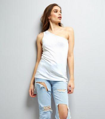 White Off the Shoulder Vest New Look