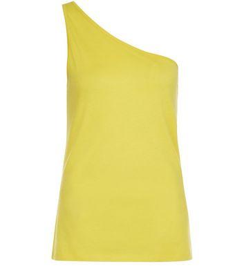 Yellow Off the Shoulder Vest New Look