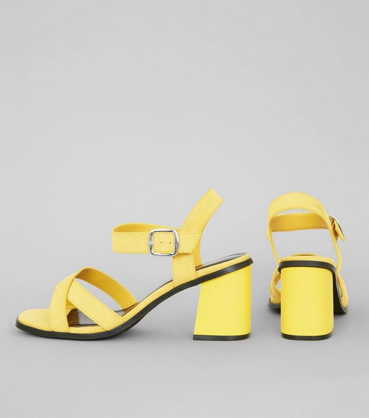 c5e1e043e7d5 ... Wide Fit Yellow Suedette Square Toe Block Heels. ×. ×. ×. VIDEO Shop  the look