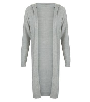 JDY Grey Hooded Cardigan New Look