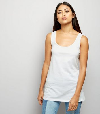 Petite White Scoop Neck Vest New Look