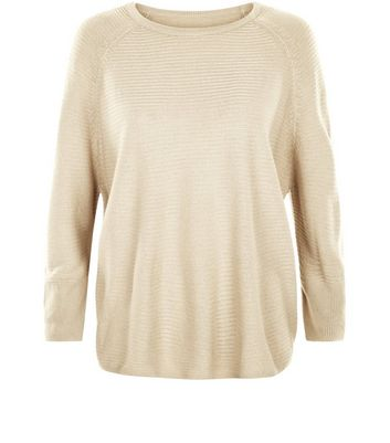 JDY Stone Ribbed Fine Knit Jumper New Look