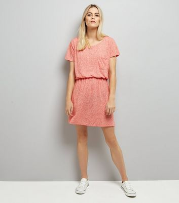 JDY Mid Pink Elasticated Waist Dress New Look