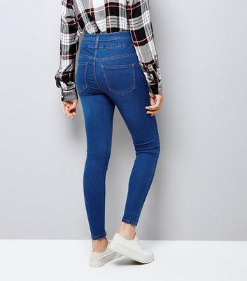 Dark Blue High Waist Skinny Yazmin Jeans New Look