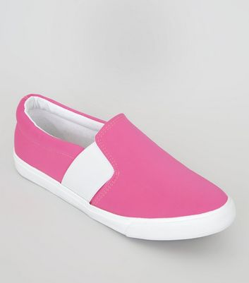 Wide Fit Pink Plimsolls
