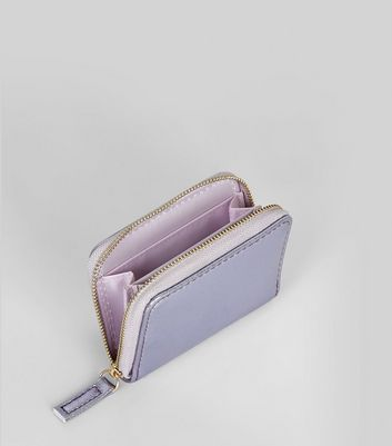 Lilac Metallic Cardholder New Look