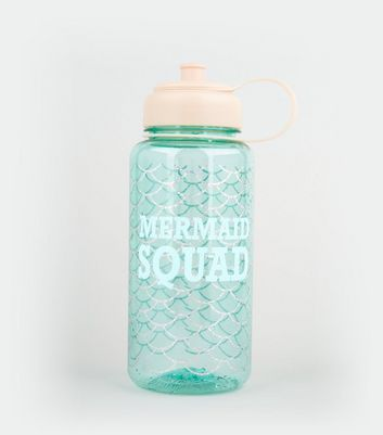 Blue Mermaid Design Water Bottle New Look