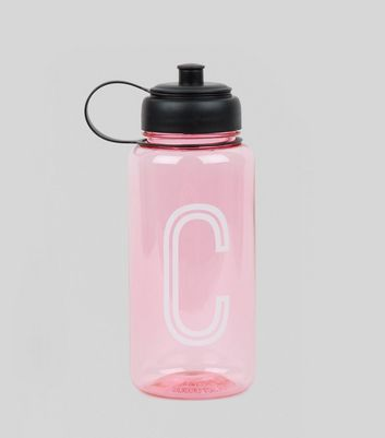 Pink Initial C Water Bottle New Look