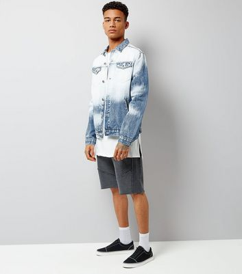 Blue Tie Dye Denim Jacket New Look