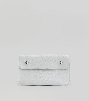 Silver Double Pouch Purse Belt New Look
